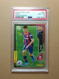 2020-21 Panini Megacracks #430 Pedri FC Barcelona RC Rookie PSA 8