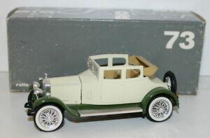 RIO 1/43 Scale - 73 - 1923 Rolls Royce Mod Twenty - Cream / Green