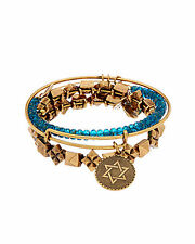 ALEX AND ANI Set of 3 Studstruck in Aqua Bracelet bangles a14rll784rg  free ship