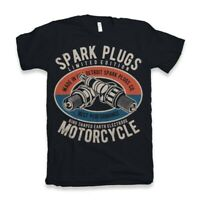T Shirt Spark Plug Christmas Birthday Gift  Mens Hot Rod Dtg mechanic car garage