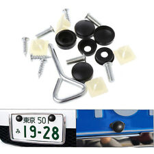 17x Car License Plate Frame Security Anti-theft Screw Bolt Fasteners Snap Cover