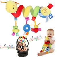 Infant Crib Cot Pram Hanging Rattles Spiral Stroller Car Seat Toy w/ Ring Bell