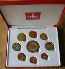 Zwitserland Proof set euromunten 2004 met 5 euro  ( pattern uitgave) in cassette