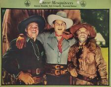 Three Mesquiteers 1940 Cowboy Vtg Dixie Cup Ice Cream Photo Premium Original