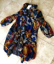 """KI""  Japan lagenlook floral rayon Chenille Coat Size M"