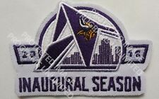 "MINNESOTA VIKINGS INAUGURAL SEASON PATCH EMBROIDERED JERSEY STYLE LARGE 4"" X 3"""