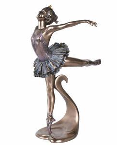 Ballett Figur Tänzerin Skulptur Ballerina vintage Balletttänzerin Veronese neu