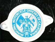 Rare California Municipal Motorcycle Officer's Motorcycle Decal