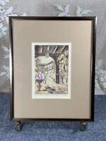NEW ORLEANS Art Print EUGENE FIELD PATIO - Signed & Framed Art Print
