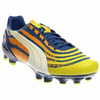 Puma EvoSpeed 3.2 Graphic Firm Ground Cleats  Casual Soccer  Cleats Yellow Mens