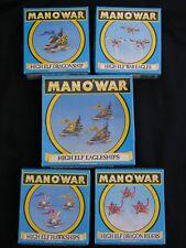 Games Workshop hombre o guerra, alto elfo flota anuncio de varios