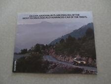 1983 Saab 900 automobile advertising booklet
