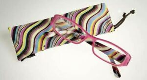 Calabria 734 Reading Glasses Striped 42 New Choices Pink,Red,Brown,Black 1-6.00