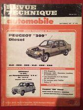 Revue Technique Automobile PEUGEOT 309 Diesel GLD GRD SRD XLD XRD XAD