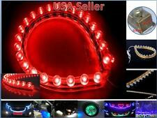 2 Pcs 24cm 24 LEDs Flexible PVC Strip Light Waterproof Red