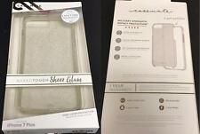 """New Original CASE-MATE Sheer Glam Champagne Clear Case 5.5"""" iPhone 7+Plus 6S+ 6+"""