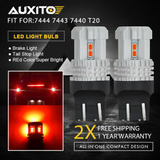 AUXITO 2X 7443 7440 Red High Power Brake Tail Stop Car LED Light Bulb T20 P21/5W