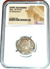 Roman Nero Alexandria Bi Tetradrachm Coin Ngc Certified With Story,Certificate