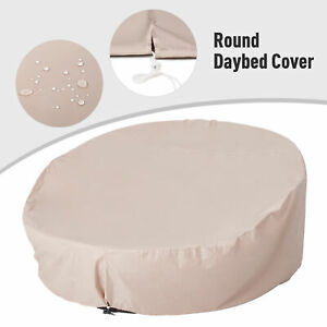 Round Garden Day Bed Cover 1.9 m Wide 420D Dustproof Windproof Waterproof Fabric