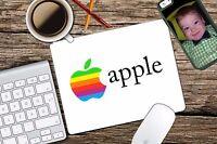 Vintage Apple Rainbow Apple Retro Logo Mac Mouse Pad Mousepad Home Office