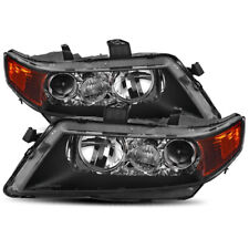 For 2004 2005 2006 2007 2008 Acura TSX Black Factory Style Projector Headlights