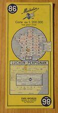 Carte Michelin 1-200 000e n°86 Luchon-Perpignan, 1970
