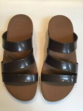 FIT FLOPS, BROWN / BRONZE 'SUPERJELLY TWIST' SANDALS UK 5 EU 38.