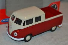 1:34 VOLKSWAGEN VW T1 DOBLE CABINA PICK UP METAL ESCALA SCALE CAR DIECAST 1:32