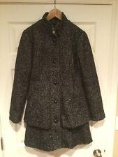 BB Dakota Black & White Tweed Coat w/ Peplum Bottom, Size Small