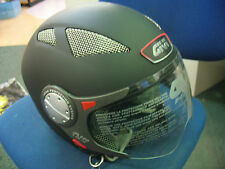 GIVI HPS10.4 OPEN FACE MOTORCYCLE CRASH HELMET & VISOR MATT BLACK XS 54 cm - NEW