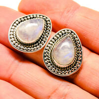 "Rainbow Moonstone 925 Sterling Silver Earrings 3/4"" Ana Co Jewelry E411976"
