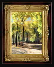 PRINT on CANVAS of Painting Arseni ~ SUNNY DAY 27 X 20cm Art Impressionism Color
