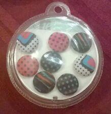 Fabric Push Pins Red Black Blue Polka Dot Item No. 284-230 New 8 Count
