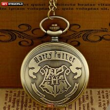 Antique Bronze Harry Potter Theme Pocket Watch Necklace Quartz Chain Hot Gift