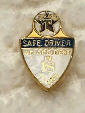 VINTAGE TEXACO SERVICE PIN AWARD 18 YEARS ENAMEL