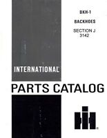 International 3142 Backhoe Hoe 2500 3400 A T-7 TD-7 T-8  Parts Catalog Manual IH