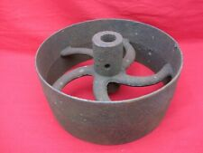 Vtg Antique Cast Iron Flat Belt Pulley Line Shaft Hit Miss Engine Curved Spoke