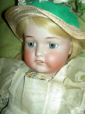 Pretty, antique German bisque sockethead child doll marked: 1920 S P shield S