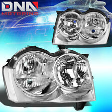 FOR 2005-2007 JEEP GRAND CHEROKEE REPLACEMENT HEADLIGHT/LAMP CHROME CLEAR LENS