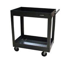 Steel Rolling Utility Cart Wheels Metal Projector Tool Transport Casters Black