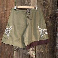 Tapout MMA Mixed Martial Arts Shorts Size 30 Olive Green Brown Board Shorts