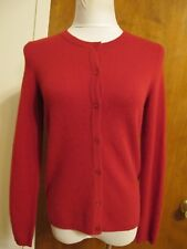 Bloomingdale's Women's Red Ruby Soft 2Ply Cashmere Cardigan Size Small NWT