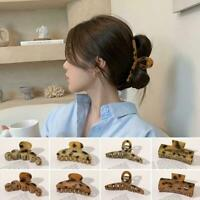 Fashion Hair Clips For Women Girls Hair Claws Leopard Gift Hair Accessories J5C9