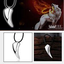 """Para Hombre De Acero Inoxidable 316l Wolf Tooth Colgante 18 """"chain Collar Nuevo Reino 210"""