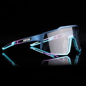 Kapvoe Photochromic Polarized Cycling Glasses Sport Fishing Sunglasses Goggles