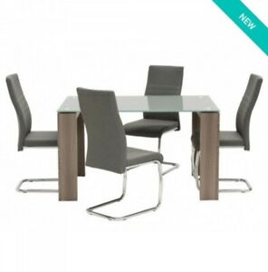 Set of 4 grey dining room chairs