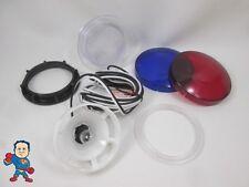 "Spa Hot Tub Light Lense 3 1/4"" Face Replacement Part Lens 2 1/2"" Hole Bulb Wire"
