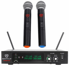 Rockville RWM70U Dual UHF Wireless Microphone For Church Sound Systems