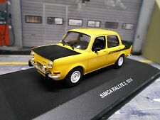 SIMCA Rallye Rally II 2 MKII gelb yellow schwarz black 1974 Solido 1:43