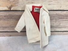 "Vintage Mattel Barbie Clothing- Winter Holiday White ""Leather"" Coat"